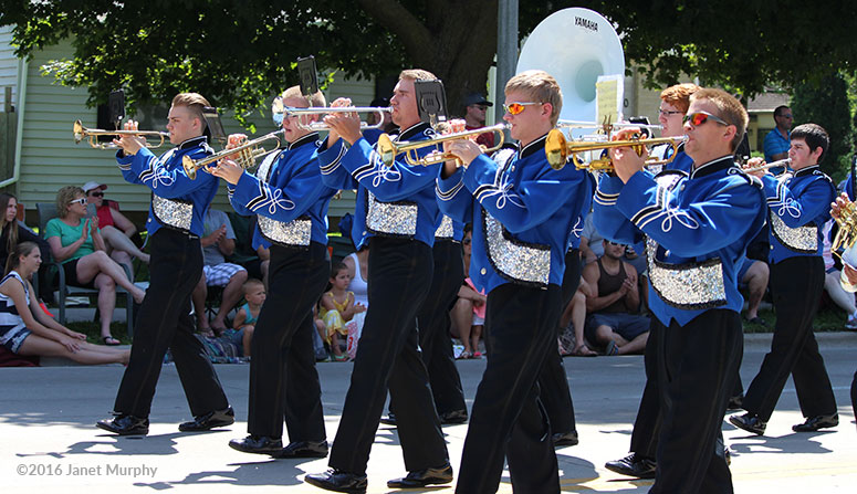 Chilton High School Marching Band in the Chilton Summer Parade 2016