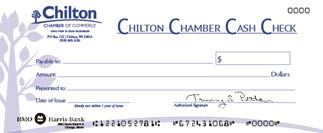 Chilton Wisconsin Chamber Cash Program