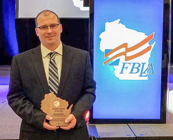 Aug 22 2019 Brian Bartel Awarded Wisconsin FBLA Business Person of the Year