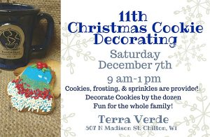 Holiday Cookie Decorating at Terra Verde Coffee House Chilton Wisconsin