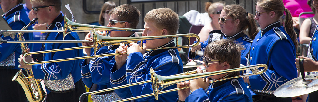 Chilton High School Band marching in the annual Father's Day Parade