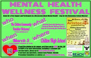 Mental Health Awareness Festival Chilton High School March 5, 2020