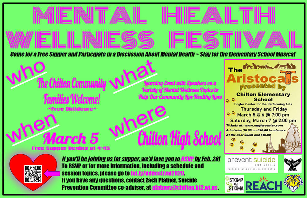 Mental Health Awareness Festival Chilton High School March 5, 2020