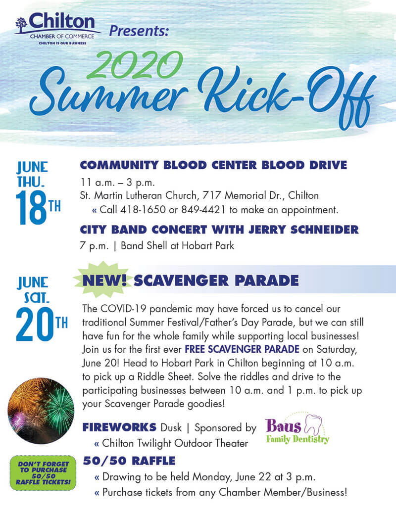 2020 Chilton Summer Festival Flyer