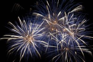 Chilton Community Fireworks in June sponsored by Baus Family Dental