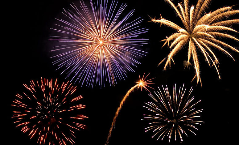 Chilton Community Fireworks June sponsored by Baus Family Dental